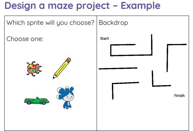 Design a maze project